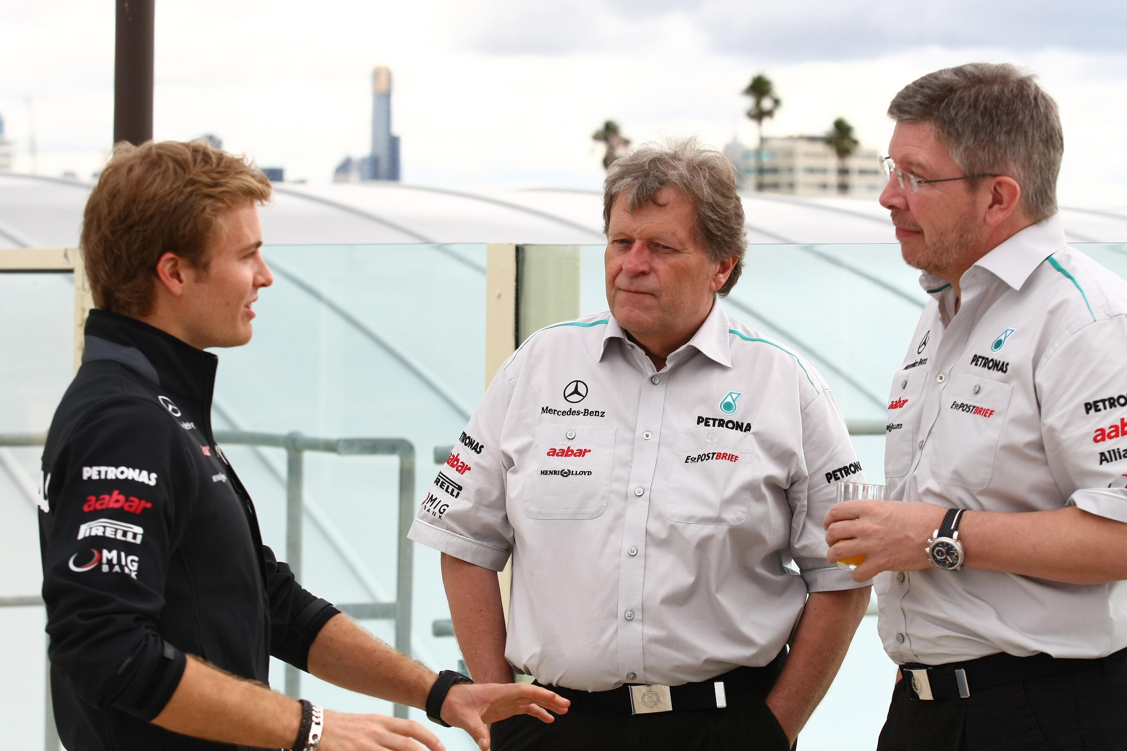 Haug lacht om speculatie over Rosberg en Ferrari