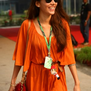 Formula One World Championship 2011, Round 17, India, Greater Noida, India, Friday 28 October 2011 - Jessica Michibata (JPN) girlfriend of Jenson Button (GBR)