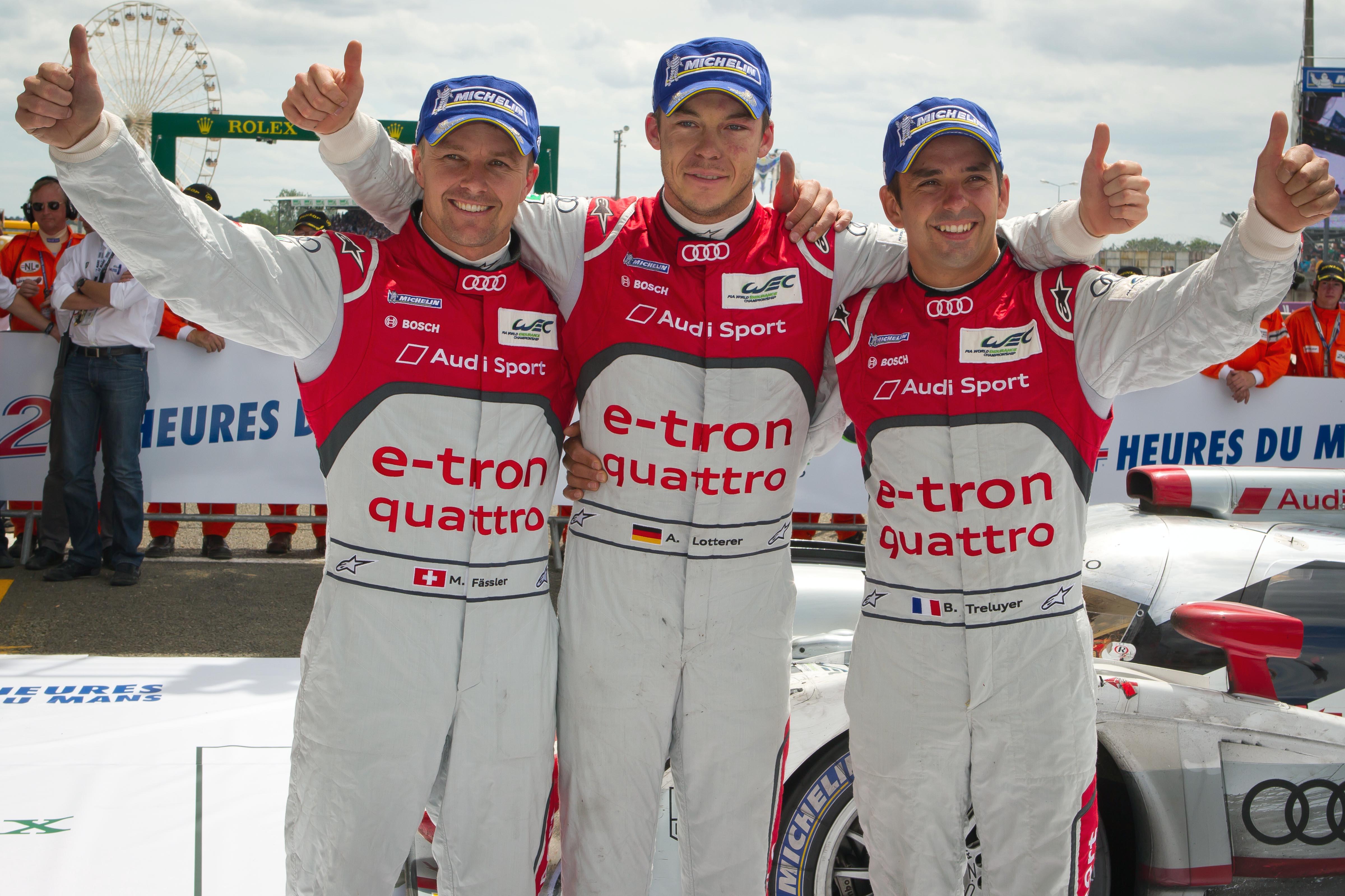 Clean sweep voor Audi op Le Mans
