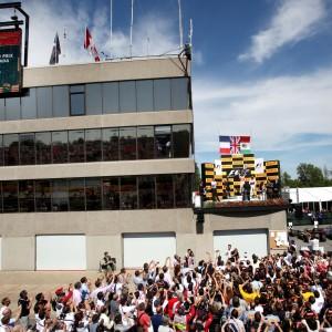 Formula One World Championship 2012, Round 7, Canadian Grand Prix, Montreal, Canada, Sunday 10 June 2012 - Romain Grosjean (FRA), Lotus F1 Team, Lewis Hamilton (GBR), McLaren Mercedes and Sergio Perez (MEX), Sauber F1 Team