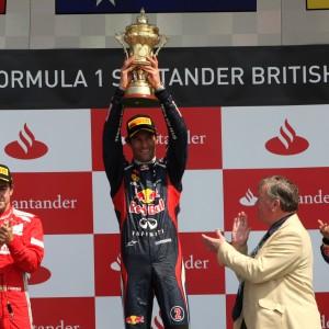 Formula One World Championship 2012, Round 9, British Grand Prix, Silverstone, England, Sunday 8 July 2012 - Fernando Alonso (ESP), Scuderia Ferrari, Mark Webber (AUS), Red Bull Racing and Sebastian Vettel (GER), Red Bull Racing