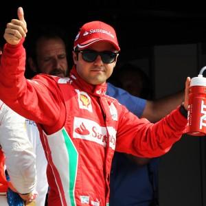 Formula One World Championship 2012, Round 13, Italian Grand Prix, Monza, Italy, Saturday 8 September 2012 - Felipe Massa (BRA) Ferrari celebrates his third position in qualifying.