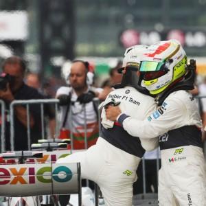 Formula One World Championship 2012, Round 15, Japanese Grand Prix, Suzuka, Japan, Saturday 6 October 2012 - L to R): Kamui Kobayashi (JPN) Sauber and team mate Sergio Perez (MEX) Sauber celebrate in parc ferme.