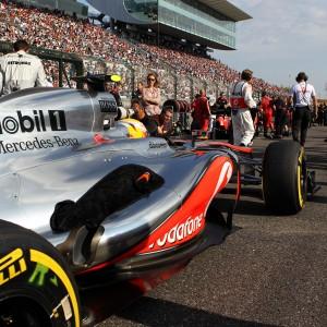 Formula One World Championship 2012, Round 15, Japanese Grand Prix, Suzuka, Japan, Sunday 7 October 2012 - Lewis Hamilton (GBR) McLaren MP4/27 on the grid.