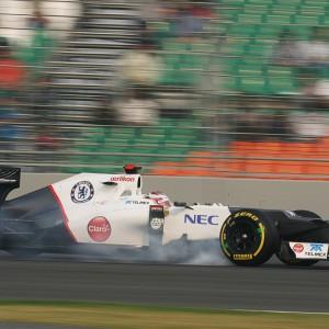 Formula One World Championship 2012, Round 17, Indian Grand Prix, New Delhi, India, Friday 26 October 2012 - Kamui Kobayashi (JPN) Sauber C31.