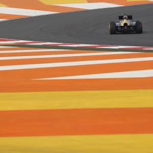 Formula One World Championship 2012, Round 17, Indian Grand Prix, New Delhi, India, Friday 26 October 2012 - Heikki Kovalainen (FIN) Caterham CT01.
