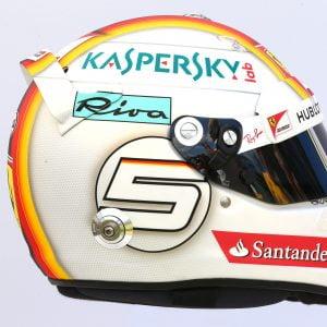 Sebastian Vettel - helmfoto