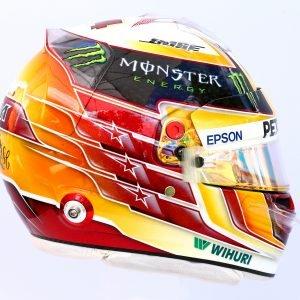 Lewis Hamilton - helmfoto