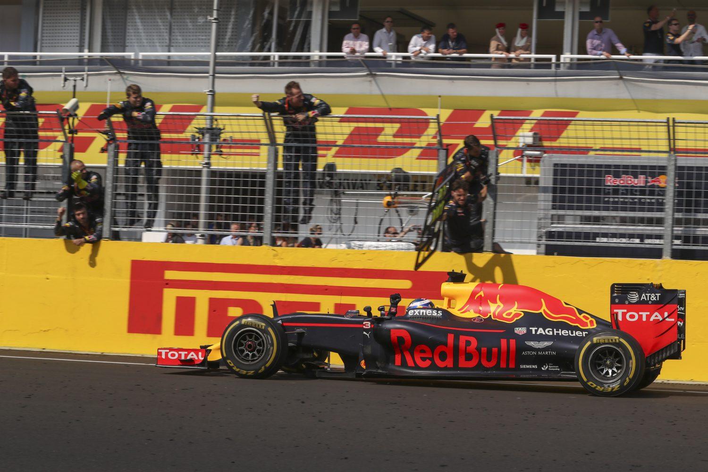 Blije Ricciardo: 'Overwinning zat er niet in vandaag'