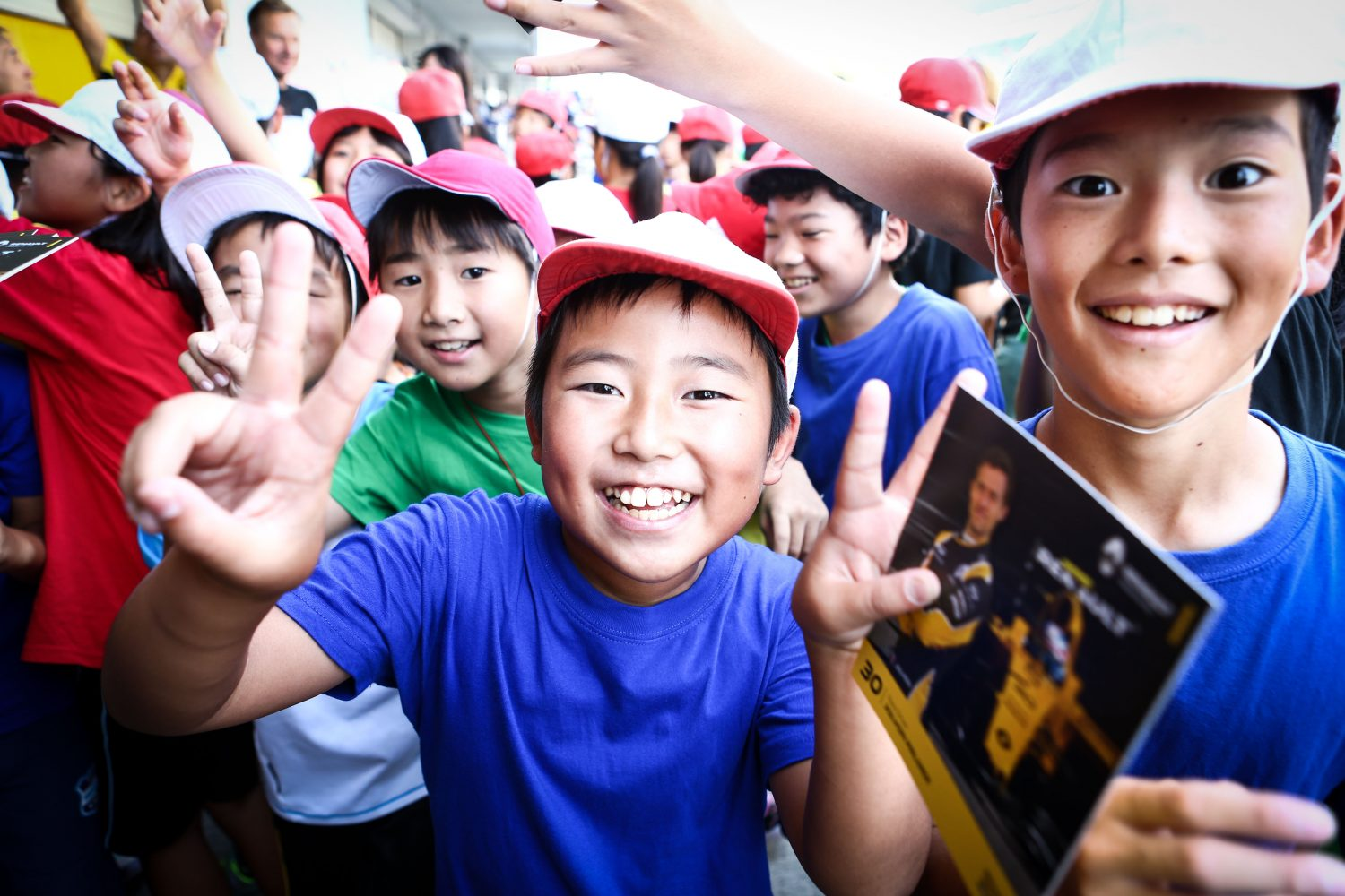 Formula One World Championship 2016, Round 17, Japanese Grand Prix, Suzuka, Japan, Thursday 6 October 2016 - Young Renault Sport F1 Team fans.