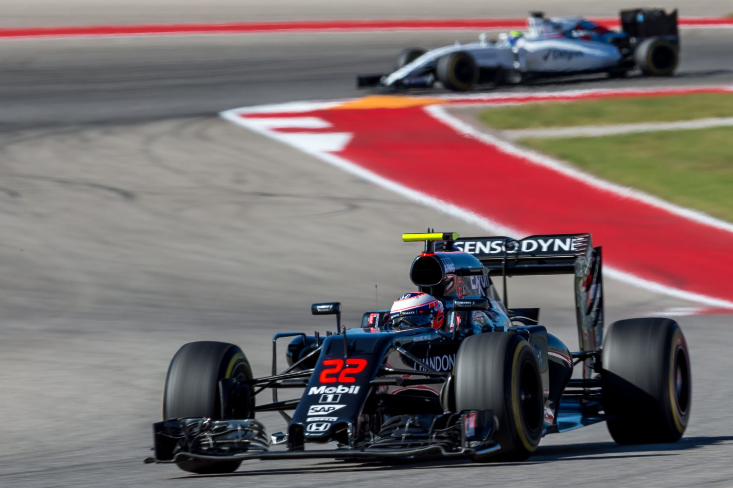 Formula One World Championship 2016, Round 18, United States Grand Prix, Austin, United States, Friday 21 October 2016 - Jenson Button (GBR) McLaren MP4-31.