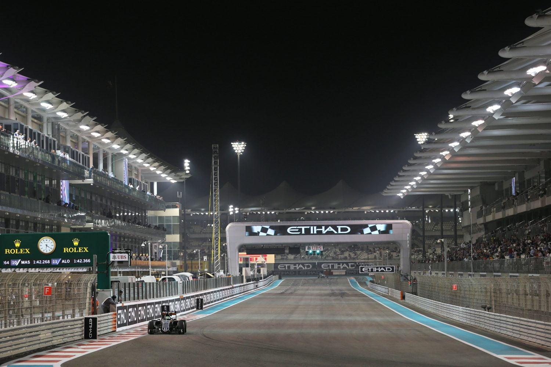 Formula One World Championship 2016, Round 21, Abu Dhabi Grand Prix, Abu Dhabi, United Arab Emirates, Friday 25 November 2016 - Nico Hulkenberg (GER) Sahara Force India F1 VJM09.
