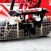 Formula One Testing, Barcelona, Circuit de Catalunya, Barcelona, Spain, Wednesday 8 March 2017 – Kimi Raikkonen (FIN) Ferrari SF70H running sensor equipment on the rear wing.