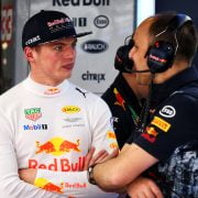 Formula One World Championship 2017, Round 5, Spannish Grand Prix, Barcelona, Spain, Friday 12 May 2017 – L to R): Max Verstappen (NLD) Red Bull Racing with Gianpiero Lambiase (ITA) Red Bull Racing Engineer.