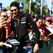Formula One World Championship 2017, Round 9, Austrian Grand Prix, Spielberg, Austria, Sunday 9 July 2017 – Esteban Ocon (FRA) Sahara Force India F1 Team with fans.