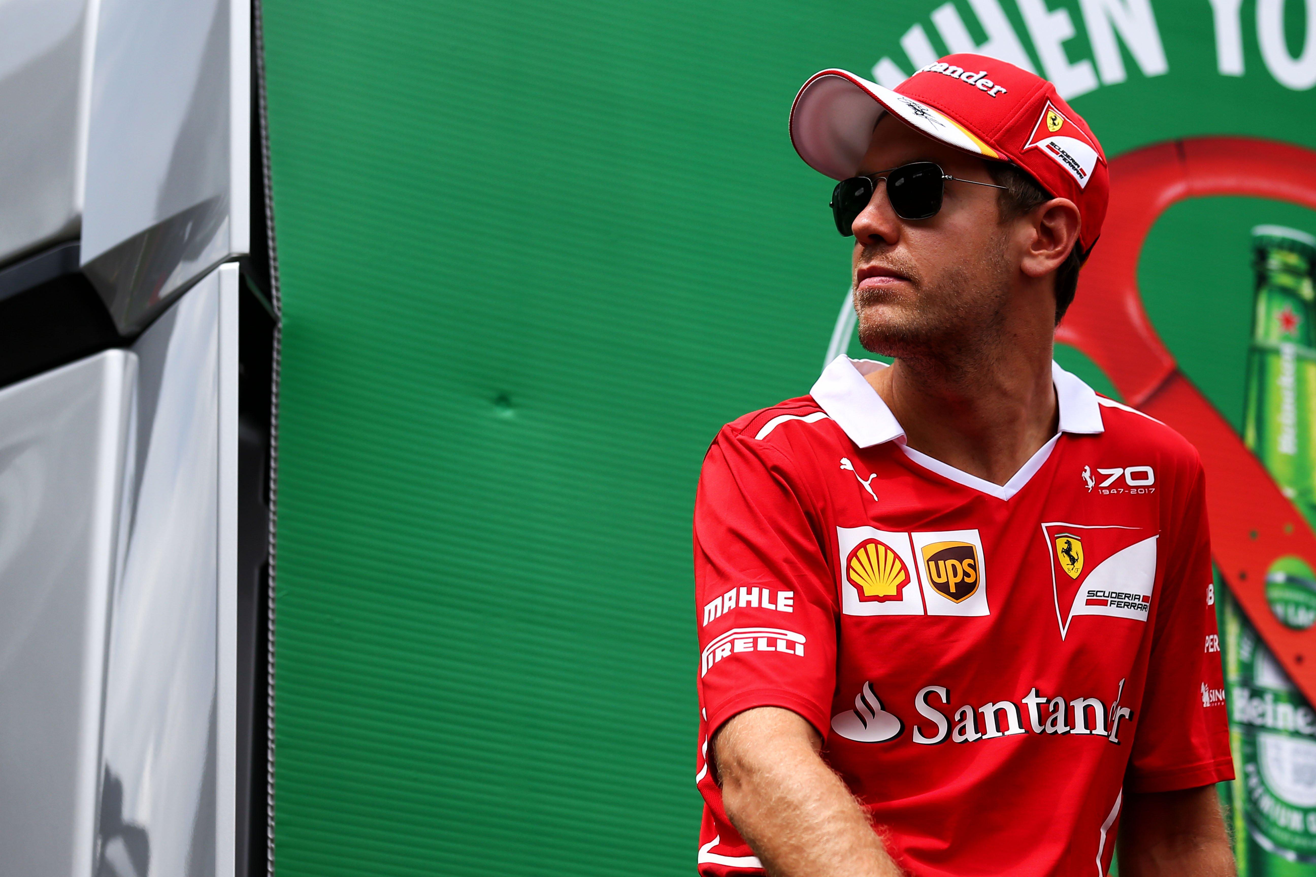 Formula One World Championship 2017, Round 9, Austrian Grand Prix, Spielberg, Austria, Sunday 9 July 2017 – Sebastian Vettel (GER) Ferrari on the drivers parade.