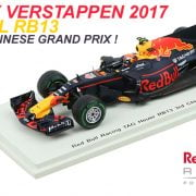 Gespot: Max Verstappens RB13 uit China (P3) in 1:43