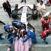 Formula One World Championship 2017, Round 13, Italian Grand Prix, Monza, Italy, Thursday 31 August 2017 – Sahara Force India F1 VJM10 used for a practice driver extraction by the circuit medical team.