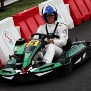 Formula One World Championship 2017, Round 13, Italian Grand Prix, Monza, Italy, Thursday 31 August 2017 – David Coulthard (GBR) Red Bull Racing and Scuderia Toro Advisor / Channel 4 F1 Commentator at a Heineken Karting event.