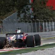 Formula One World Championship 2017, Round 13, Italian Grand Prix, Monza, Italy, Friday 1 September 2017 – Daniil Kvyat (RUS) Scuderia Toro Rosso STR12 sends sparks flying.