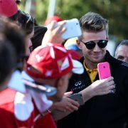 Formula One World Championship 2017, Round 13, Italian Grand Prix, Monza, Italy, Sunday 3 September 2017 – Nico Hulkenberg (GER) Renault Sport F1 Team with fans.