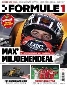 Formule 1 nr. 17 is uit!