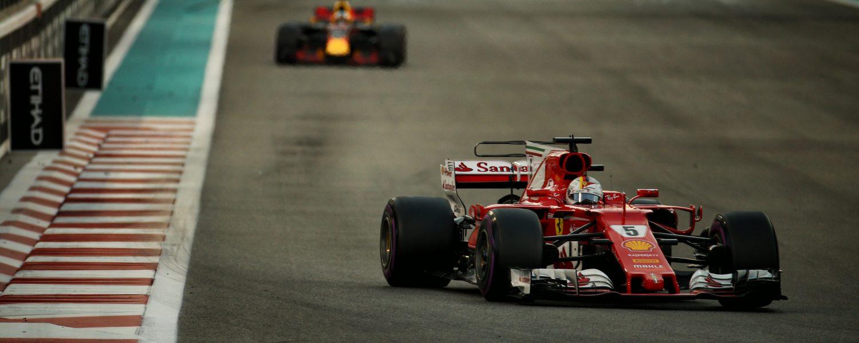 Eenzame rit naar P3 voor Vettel