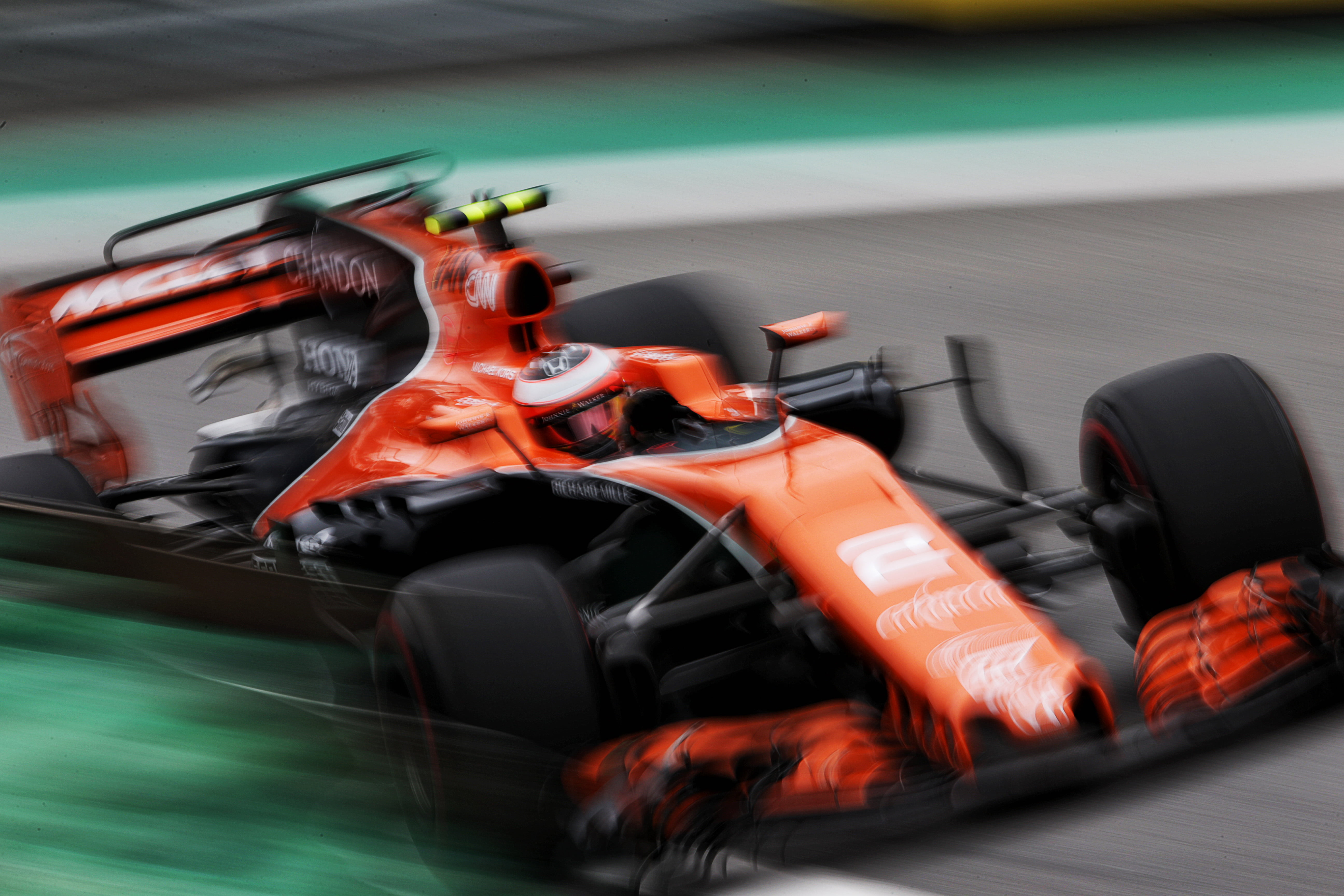 Formula One World Championship 2017, Round 19, Brazilian Grand Prix, Sao Paulo, Brazil, Saturday 11 November 2017 – Stoffel Vandoorne (BEL) McLaren MCL32.