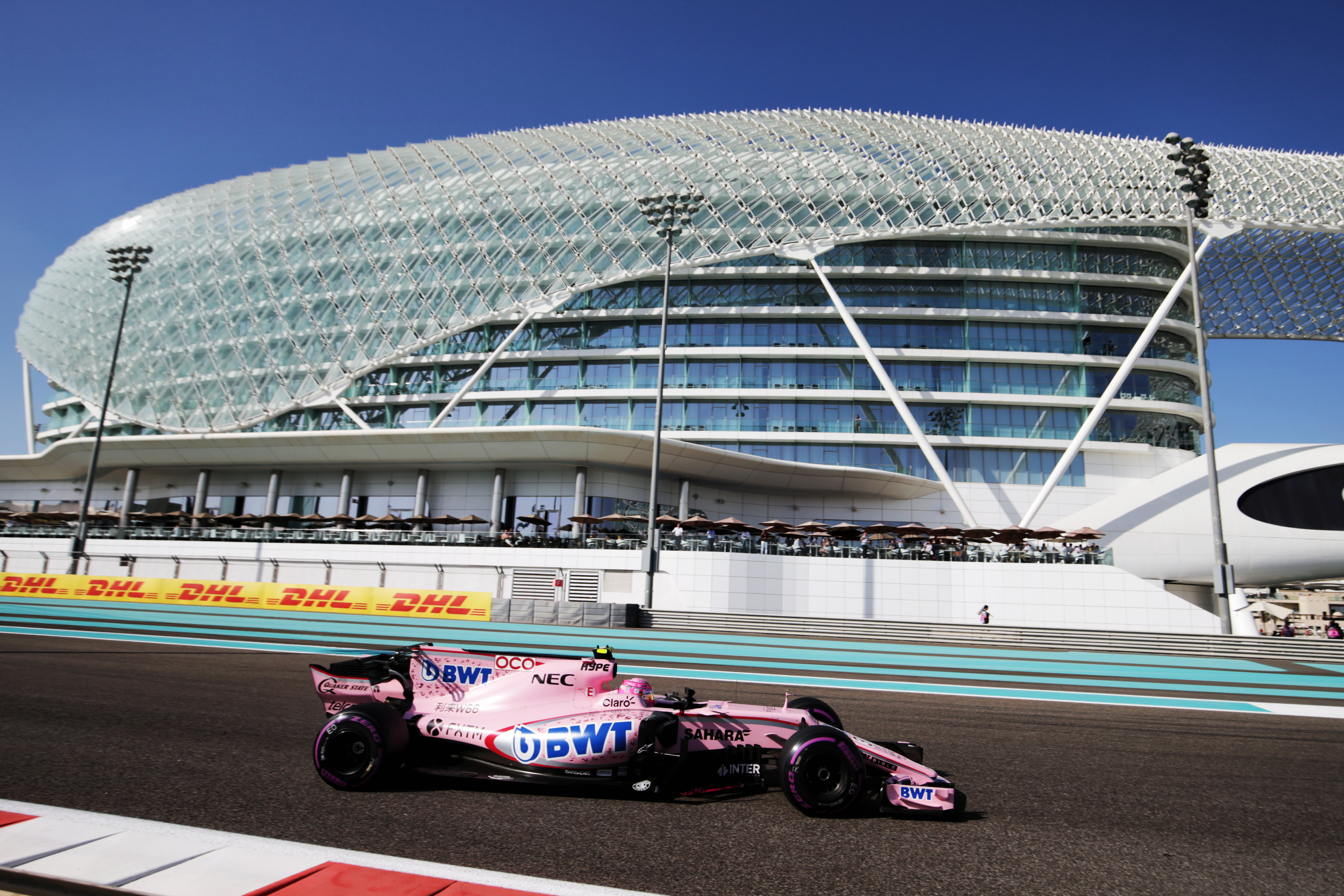 Formula One World Championship 2017, Round 20, Abu Dhabi Grand Prix, Abu Dhabi, United Arab Emirates, Saturday 25 November 2017 – Esteban Ocon (FRA) Sahara Force India F1 VJM10.