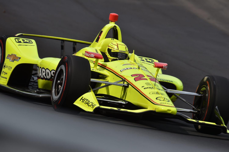 Indy 500: Penske's Pagenaud wint van pole, Rossi en Sato tweede en derde