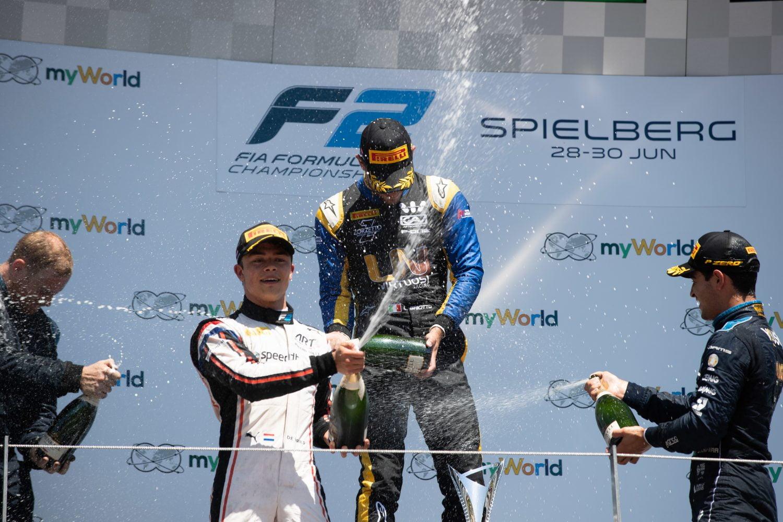 F2: Nyck de Vries bouwt voorsprong in kampioenschap uit met derde plaats